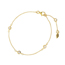 Armband Pure, Triple, Silber Gelbgold vergoldet
