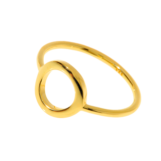 Circle Of Life Ring, 18 K Gelbgold vergoldet