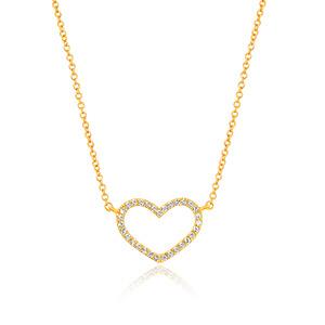 Halskette Heart mit Diamanten, 18 K Gelbgold