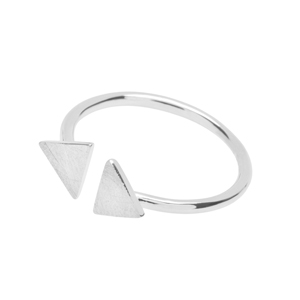 Open-Ring 2 Triangles, 925 Sterlingsilber