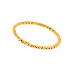 Twist Ring, 18 K Gelbgold vergoldet