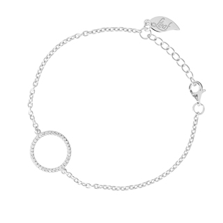 Armband Circle Of Life, 925 Sterlingsilber, rhodiniert
