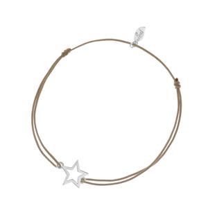Glücksbändchen STAR, Silber