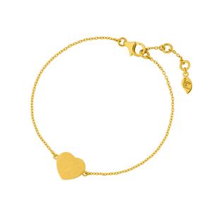 Armkette Heart-Disc, 18 K Gelbgold vergoldet