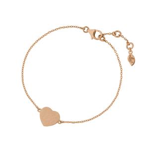 Armkette Heart-Disc, 18 K Rosegold vergoldet