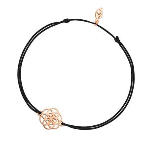 Glücksbändchen Flower of Life, 18K Rosegold vergoldet