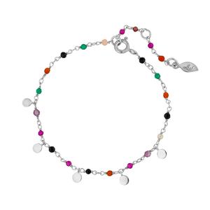 Armkette Rainbow, 925 Sterlingsilber, Multi Gems