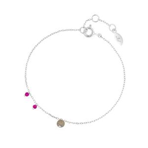 Armkette Sweet Gems, Labradorit/Rubin, 925 Sterlingsilber