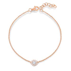 Armkette Pavé II mit Diamanten, 18 K  Rosegold