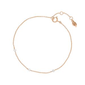 Armkette Pure Triple Diamant, 18 K Rosegold