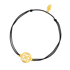 Glücksbändchen Clover, 14 K Gelbgold