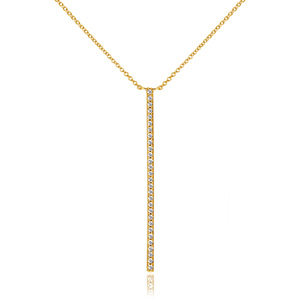 Halskette Bar Diamanten, 18 K Gelbgold