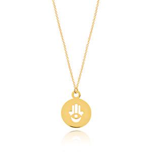 Halskette Fatima, 14 K Gelbgold