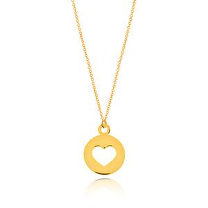 Halskette Heart, 14 K Gelbgold