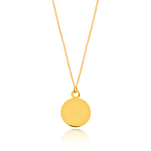Halskette Plate, 14 K Gelbgold
