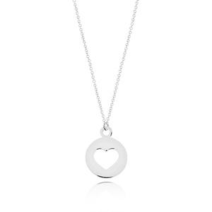 Halskette Heart, 14 K Weißgold