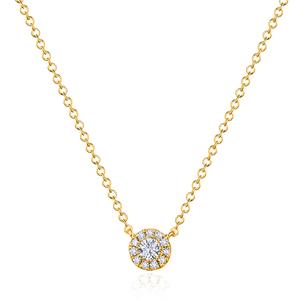 Halskette Pavé II mit Diamanten, 18 K Gelbgold