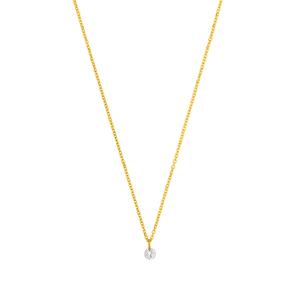 Halskette Pure Diamant, 18 K Gelbgold