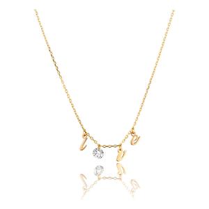 Halskette Pure LOVE mit Diamant, 18 K Gelbgold