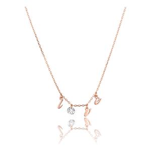 Halskette Pure LOVE mit Diamant, 18 K Roségold