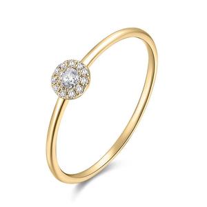 Ring Pavé II, 18K Gelbgold