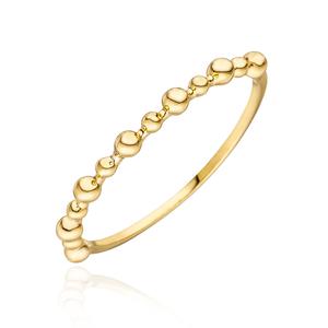 Ring Kugel, 18 K Gelbgold