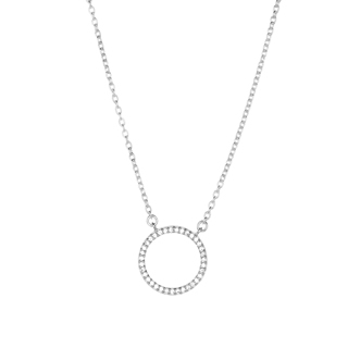 Halskette Circle Of Life kurz, Silber