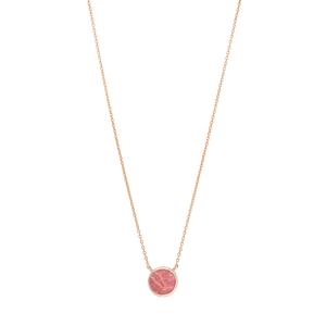 Halskette Round, Rhodochrosite, 18 K Rosegold vergoldet