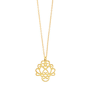 Halskette Heart Flower, kurz