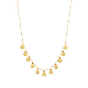 Halskette Platelet, 18 K Gelbgold vergoldet