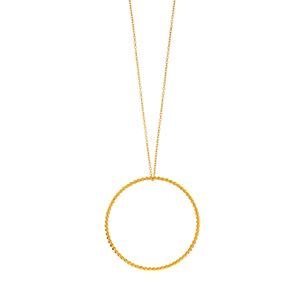 Halskette Kugelring, lang, 925 Sterlingsilber
