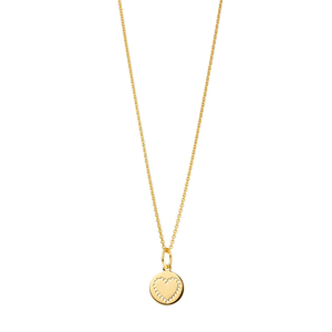 Halskette Mini-Disc HEART, 18 K Gelbgold vergoldet