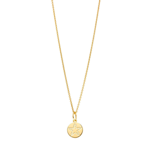 Halskette Mini-Disc STAR, 18 K Gelbgold vergoldet