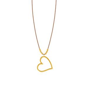 Glückshalskettchen Heart, 18 K Gelbgold vergoldet
