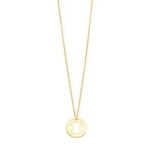 Halskette Krebs, 18 K Gelbgold vergoldet