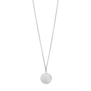 Halskette Plättchen 14mm, 50cm lang, 925 Sterlingsilber
