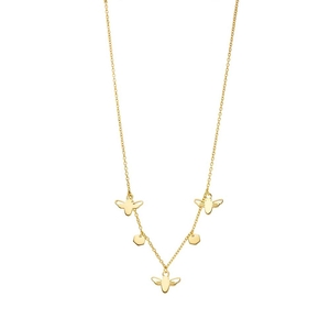 Halskette Bee Happy Charms, 45cm, 18K Gelbgold vergoldet