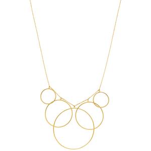 Halskette Circles, 45cm, 18 K Gelbgold vergoldet