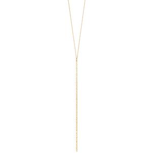 Y-Halskette Mesh, 45 cm, 18 K Gelbgold vergoldet