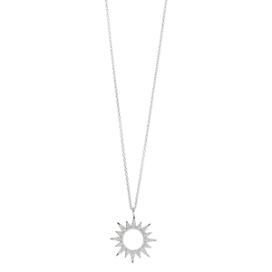 Halskette Sparkling Sun, 45cm, 925 Sterlingsilber