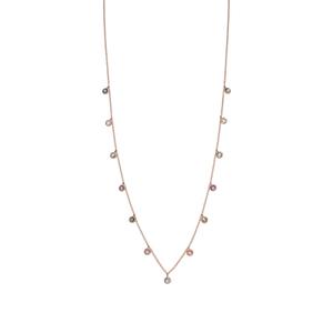 Halskette Sweet Drops, Mix Gems, 18K Rosegold vergoldet