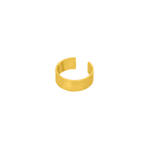 Earcuff Matt, 4mm, 18 K Gelbgold vergoldet