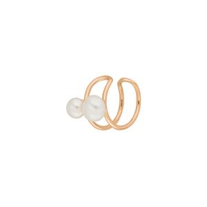 Earcuff 2 Pearls, 18 K Rosegold vergoldet