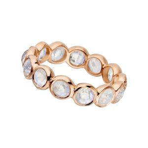 Ring Bohemian, 18 K Roségold vergoldet, Mondstein